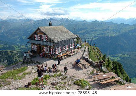 Mountain Hostel On Grosser Mythen Top.