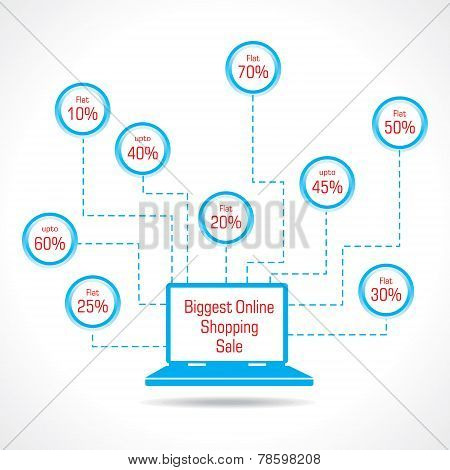 Biggest Online Shopping Sale concept stock vector