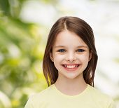 image of pre-adolescent girl  - happiness and people concept  - JPG