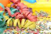 picture of confetti  - colorful party streamers - JPG