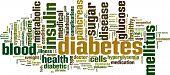 picture of sick kidney  - Diabetes Word Cloud Concept - JPG