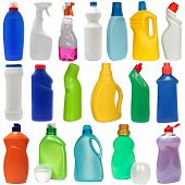 picture of plastic bottle  - cleaning equipment isolated on a white background - JPG
