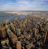 pic of empire state building  - Aerial view of New York City from the Empire State Building - JPG