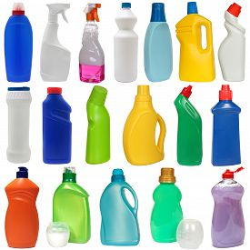 picture of detergent  - cleaning equipment isolated on a white background - JPG