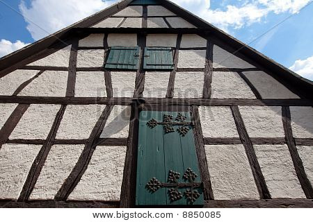 Architectural Detail Of European Framework House