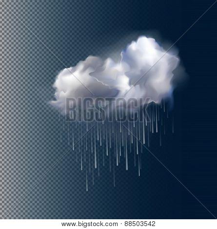 Vector cloud and rain