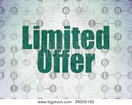 Business concept: Limited Offer on Digital Paper background