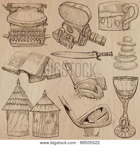 Objects - An Hand Drawn Vectors. Converted