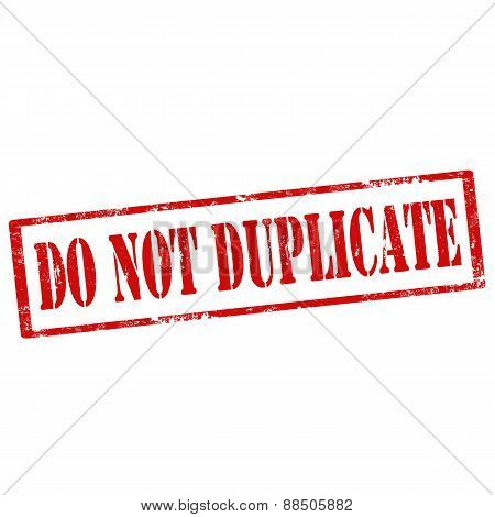 Do Not Duplicate-stamp