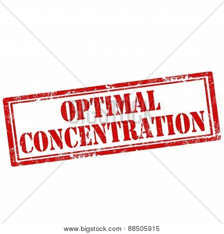 Optimal Concentration-stamp