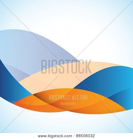 vector abstract background, modern orange and blue colors