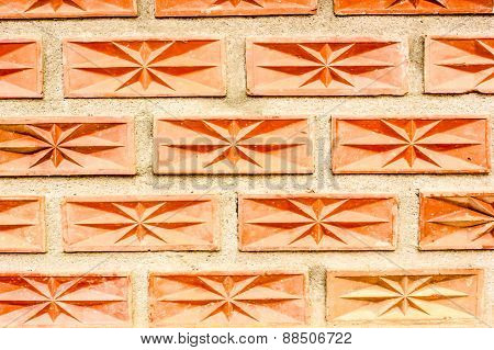 Surface Wall Of Stones And Sand Stucco Texture Background