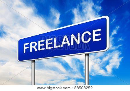 Freelance Road Sign