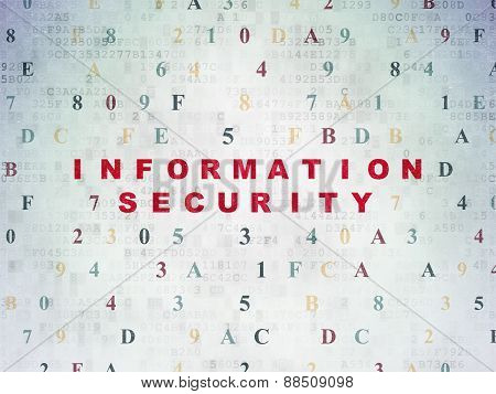 Safety concept: Information Security on digital background