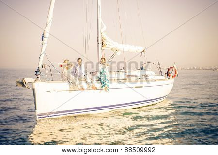 People Partying On Boat