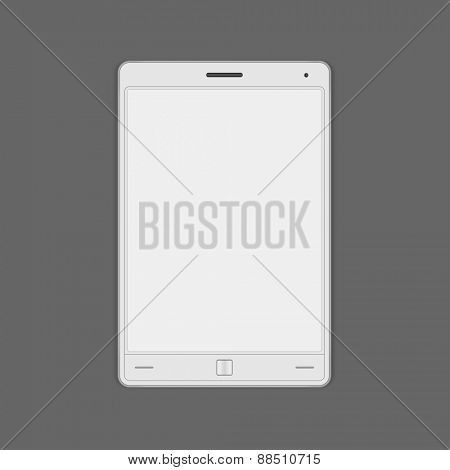 Tablet computer vector mock up template for logotype presentation