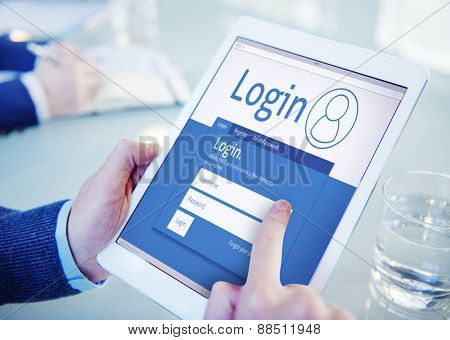 Login Registration Membership User Register Join Subscribe Concept
