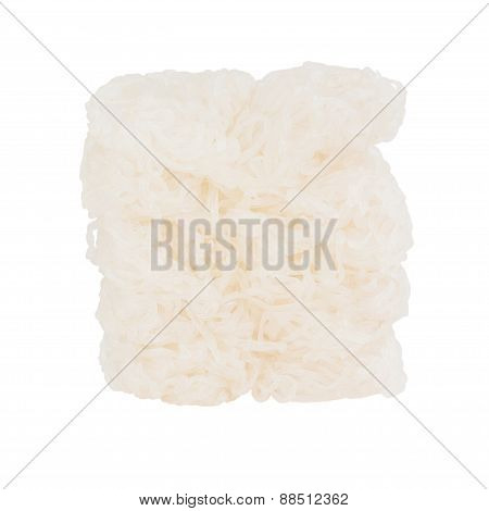 Shirataki Konjac Noodles Isolated Over White