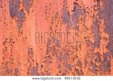 chipped paint on iron surface texture