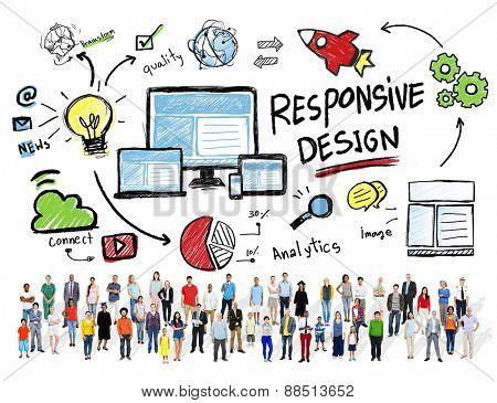 Responsive Design Internet Web Diversity Group People Concept