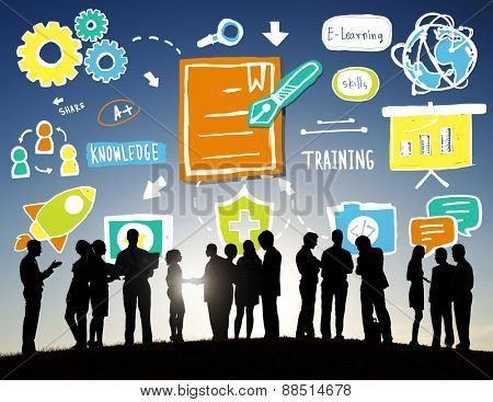 Business People Discussion Training Strategy Teamwork Concept