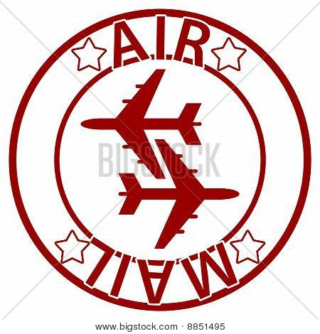 Air Mail seal - red color