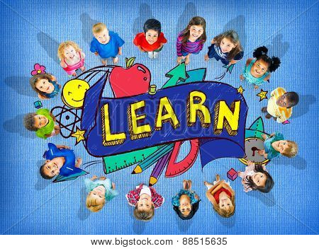 Kids School Education Learn Wisdom Young Concept