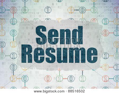 Business concept: Send Resume on digital background