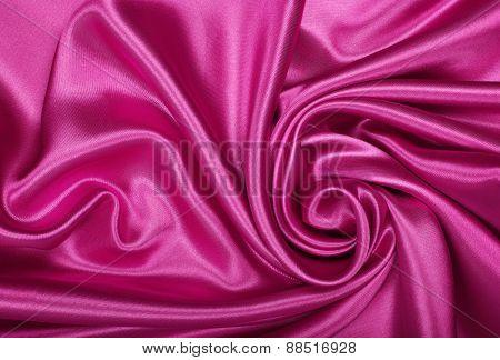 Smooth Elegant Pink Silk Or Satin As Background