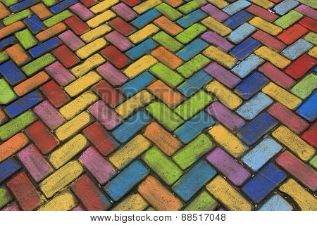 Colored pavement
