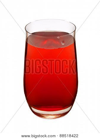 glass with red drink