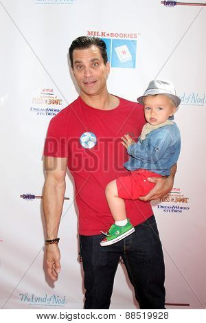 LOS ANGELES - FEB 19:  Johnathon Schaech, Camden Schaech at the Milk+Bookies Sixth Annual Story Time Celebration at the Toyota Grand Prix Racecourse on April 19, 2015 in Long Beach, CA