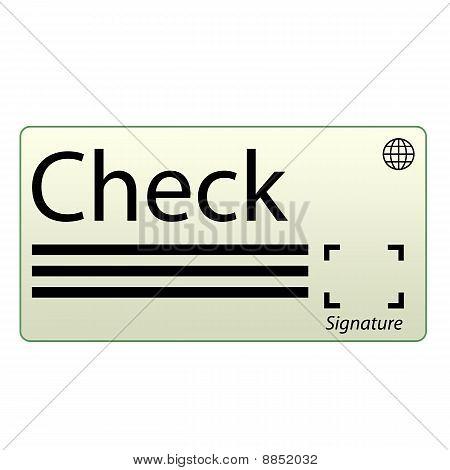 Money Check Icon with green border