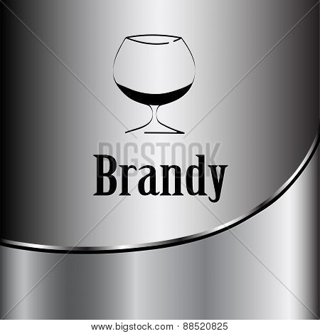 Brandy Glass Design Menu Background. Vector