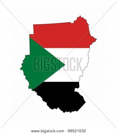Sudan Flag Map