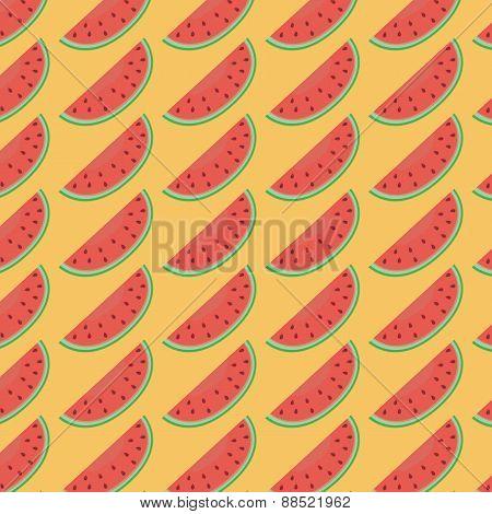 Red watermelon pattern