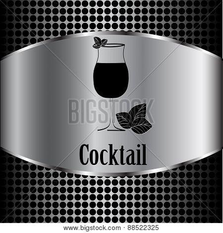 Cocktail Glass Design Menu Background. Vector