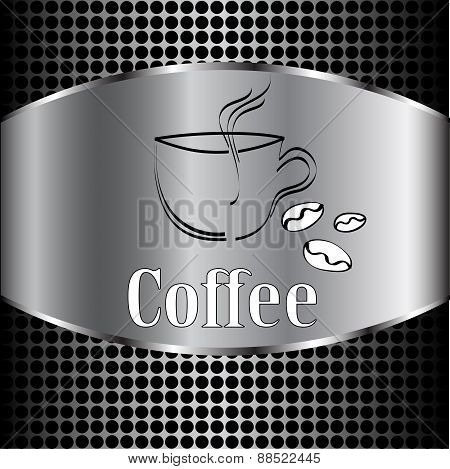 Coffee Cup Label Concept Menu. Vector Coffee Background