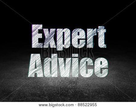 Law concept: Expert Advice in grunge dark room
