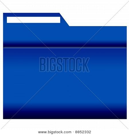 File Folder with label, blue coloured