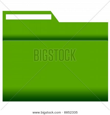 File Folder with label, green coloured