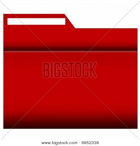 File Folder with label, red coloured
