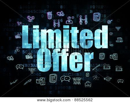 Business concept: Limited Offer on Digital background