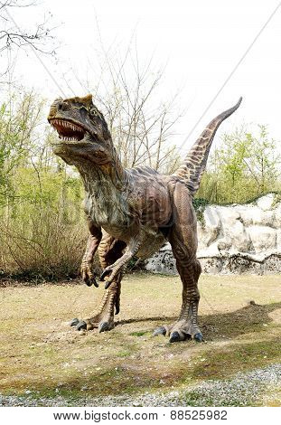 Saltriosaurus Dinosaur Model In Outdoor Theme Park