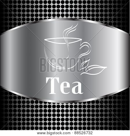 Cup Of Tea. Vector Label, Idea (poster) For Your Menu