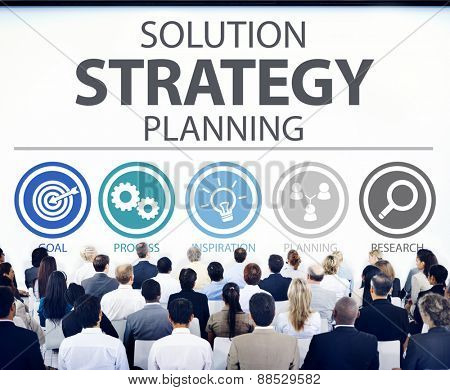 Strategy Business Goals Solution Success Concept