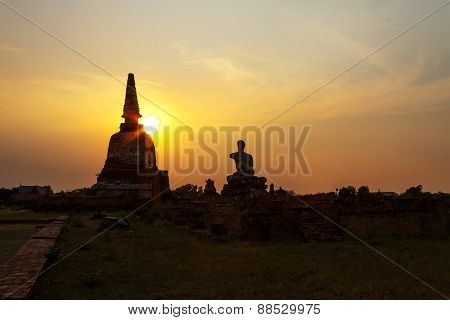 Sunset Ancient Pagoda