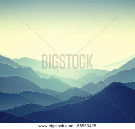 Mountain panoramic landscape.