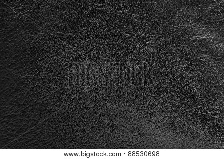 Black leather textured background