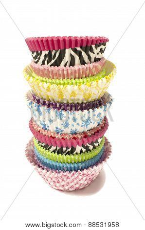 Pile Of All Colors Cupcake Paper Cups.
